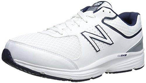 New Balance Mens MW411v2 Walking Shoe, Blanco/Azul, 43 EU/9 UK