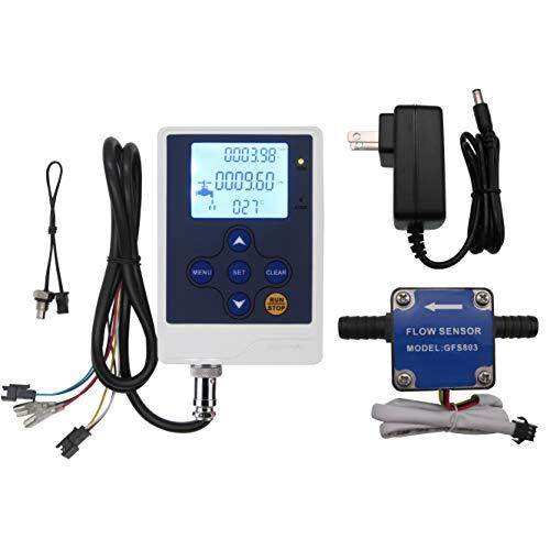 "DIGITEN 3/8"" Connect Hose Oil Fuel Gas Diesel Milk Water Liquid Flow Sensor Meter + Digital Display Flowmeter Quantitative Controller Counter"