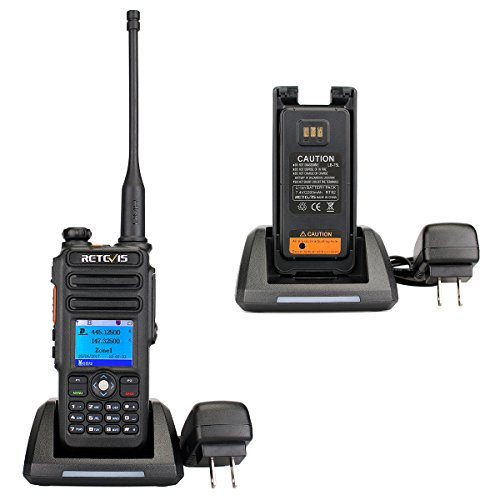 Retevis RT82 IP67 Waterproof Dual Band DMR Digital/Analog Two Way Radio 5W 136-174MHZ/400-480MHZ 3000 Channels 10000 Contacts Ham Amateur Radio with Record Function and Programming Cable by Retevis (Image #5)