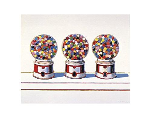 Thiebaud Poster ((11x14) Wayne Thiebaud Three Machines 1963 Art Print Poster)