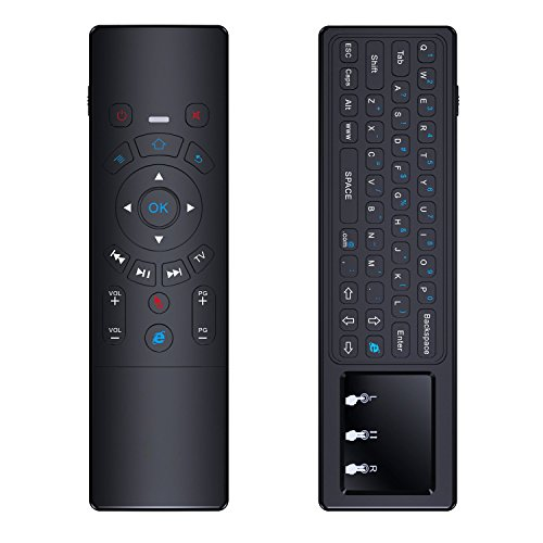ACEMAX Updated Air Mouse 2.4G Wireless Mini Keyboard Touch Pad with IR Learning Best for Android TV Box KODI Xbox PC Pad Raspberry Pi 3 Windows Mac OS Linux NVIDIA Shield TV
