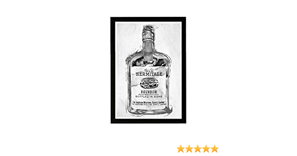 Whiskey Dictionary Definition Modern Wall Art Minimal Framed Print