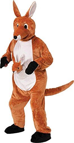 UHC Unisex Jumpin Jenny Kangaroo Mascot Jumpsuit Funny Theme Halloween Costume, STD (40-42)