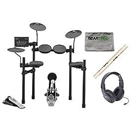 Yamaha DTX432K Electronic Drum Set w/Headphones, Sticks, and Cloth