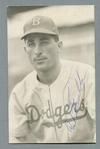Carl Furillo Brooklyn Dodgers Signed Vintage Postcard Auto B&E Hologram - MLB Cut Signatures from Sports Memorabilia