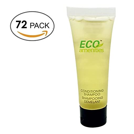 ECO-AMENITIES-Transparente-Tubo-Flip-Cap-Envueltas-Individualmente-30ml-Shampoo-Conditioner-72-Tubes-per-Caso