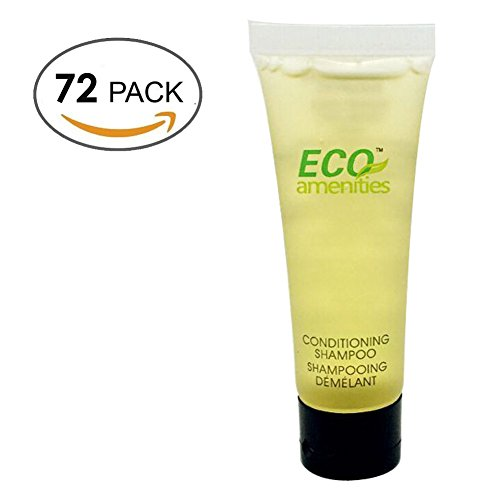 ECO-AMENITIES-Transparente-Tubo-Flip-Cap-Envueltas-Individualmente-30ml-Shampoo-Conditioner-72-Tubes-per-Caso