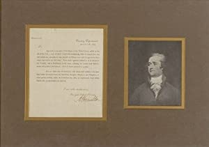 Alexander Hamilton - Printed Document - Signed In Ink - August 31, 1792