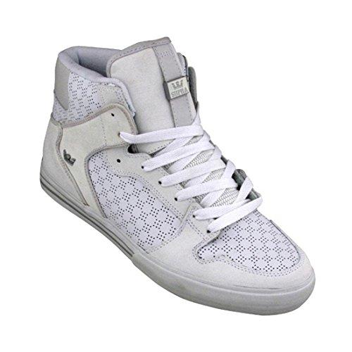Supra Vaider High Top Skate Shoe - Men's Tuf White, 11.0