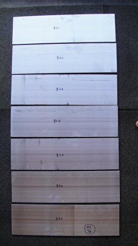 "Lot 3i , 7 Pcs Aluminum Plate 1/4 all 5 x 17-3/8 Sheet 6061-T6 .25 1/4"" Thk (6061 Aluminum Solid Sheet)"