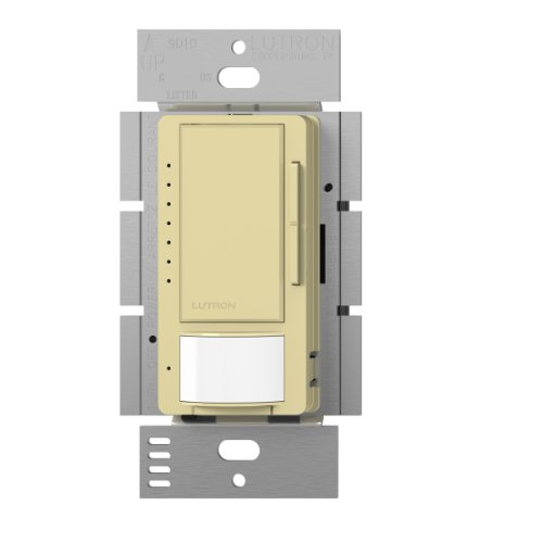 (Lutron Maestro LED Dimmer switch with motion sensor, no neutral required, MSCL-OP153M-IV, Ivory )
