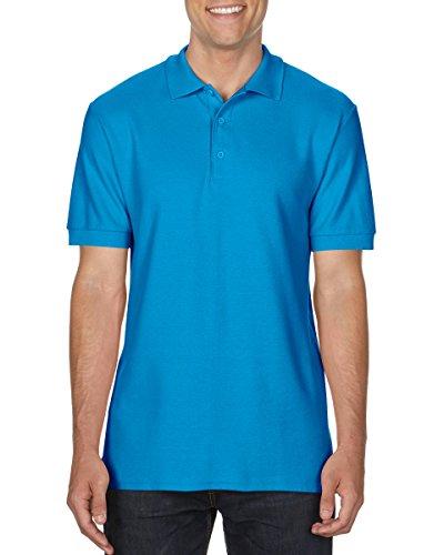 Gildan 85800Herren Kurze Ärmel Premium Baumwolle Sport Polo Shirt–Saphir–große