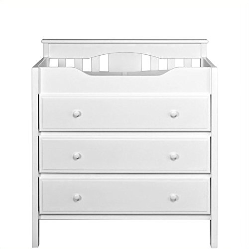 DaVinci 3-Drawer Changer Dresser, White
