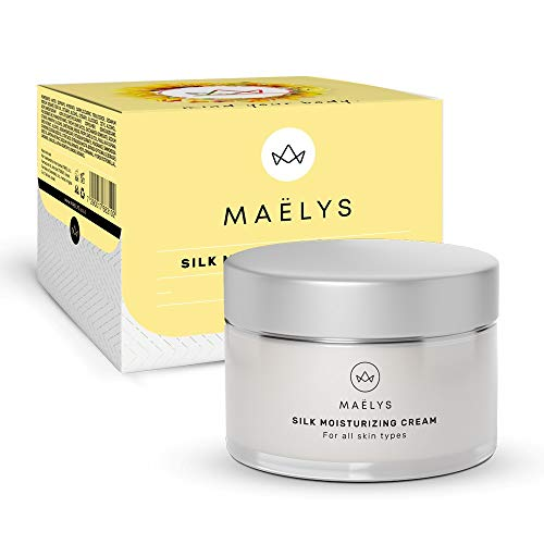 Silk Face and Eye Moisturizing Cream | Hyaluronic Acid Serum for Men and Women | Anti Wrinkle Moisturizer | MAELYS Cosmetics, 1.67 oz.
