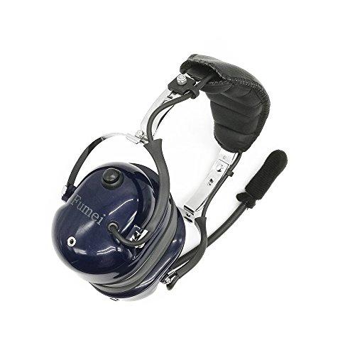 Fumei Heavy Duty Noise Cancelling Pilot Style Headset for for Motorola APX4000 APX6000 DP3401 DP3601 DGP4150 DGP6150 XiRP8200 XiRP8260 XPR6300 XPR6500 XPR7000 XPR7550 (Blue) by Fumei