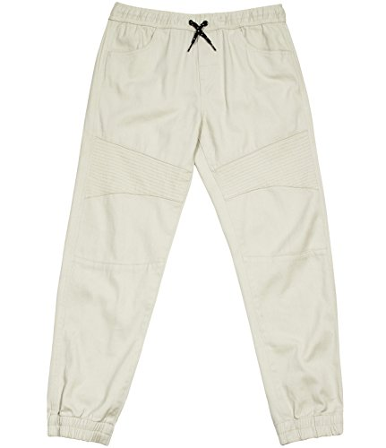 TONY HAWK Kids Boys Cotton Stretch Twill Woven Jogger Pants with Drawstring and Pockets School Clothes Oatmeal 8