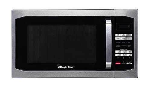 (Magic Chef MCM1611ST 1100W Oven, 1.6 cu.ft, Stainless Steel Microwave)