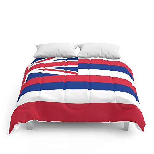 Society6 The State Flag Of Hawaii - Authentic Version Comforters King: 104'' x 88'' by Society6