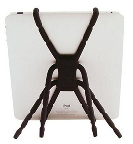 Xmiker Spider tablet stand and holders for iPad and other Tablets Flexible and Fully Adjustable(Black)