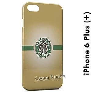 Carcasa Funda iPhone 6 Plus (iPhone 6+) StarBucks Coffee Logo Protectora Case Cover