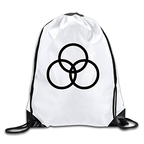 BYDHX Led Zeppelin John Bonham Logo Drawstring Backpack Bag White