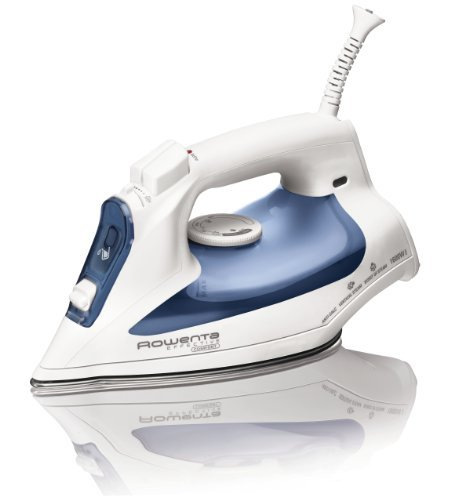Rowenta DW2070 Effective Comfort 1600-Watt Steam Iron Stainless Steel Soleplate with Auto-Off, 300-Hole, Blue by Rowenta (Rowenta Effective Cord Reel Iron compare prices)