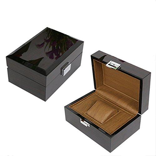 Caja de madera para relojes clásica negra de alta luz, caja ...