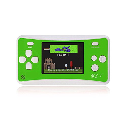 """2.5"""" Portable 8 Bit Video Game Console Handheld Rechargable Game Player Built-in 152 Games Support AV Output Green by Balai"""