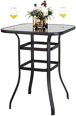 Nuu Garden Outdoor Bar Height Patio Table