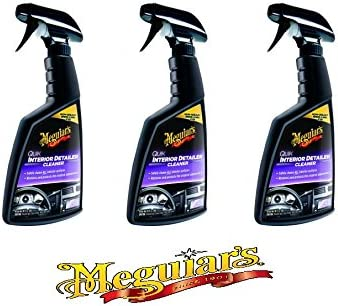Meguiar's Quik Detailer Interior Car Care Car Care Interior Cleaner Spray Practical Set 3 x 473 Ml