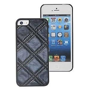 Conseguir Caja del cuero del patrón Fashion Box Suturas PU para iPhone5/5S opción Colores , Blanco