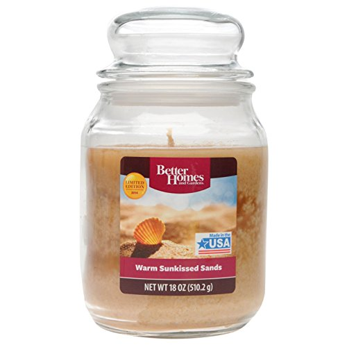 Stanford Home Mainstay Candle Scented Glass Jar Rubber Seal 18oz Warm Sands
