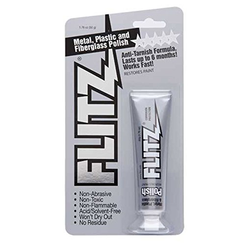 Flitz BP 03511 Metal, Plastic and Fiberglass Polish with Paint Restorer, 1.76-Ounce, Small, ()
