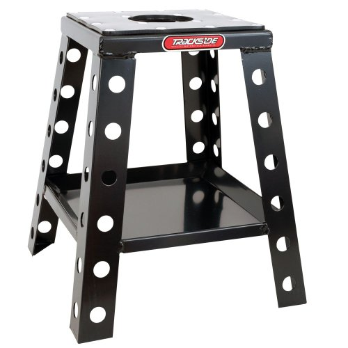 (TRACKSIDE Aluminum MX Box Stand - Fixed Tray, Black)