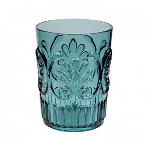 (Le Cadeaux Fleur Water Glass, Teal)