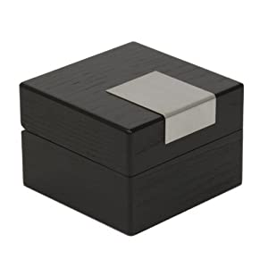 Single Watch Box 1 Extra Large Watch Black Wood Finish Removable Cushion