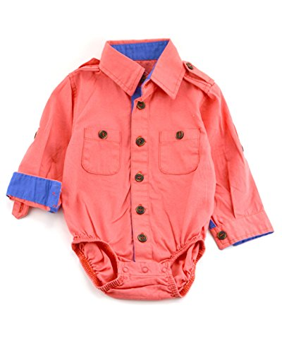 Littlest Prince Couture Infant/Toddler/Youth Long Sleeve Coral Canvas