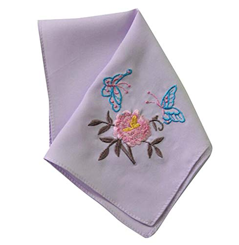 Chinese Embroidery Handkerchiefs (Set of 2 Chinese Style Ladies/Women's Embroidered Handkerchiefs, Pattern-6)