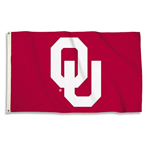 NCAA Oklahoma Sooners Unisex NCAA 3 X 5 Foot Flag with Grommets, Cardinal, One Size