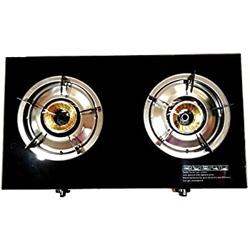 Lodhis 20,000 BTU Double Cast Burner Propane Gas Stove with Automatic Ignition