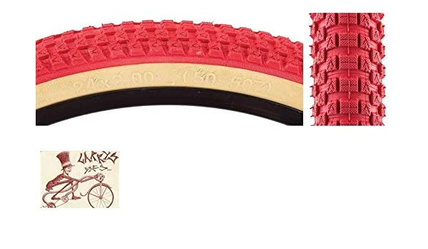 "SE BIKES CUB  24/"" x 2.0/""  RED//TANWALL BICYCLE TIRE"