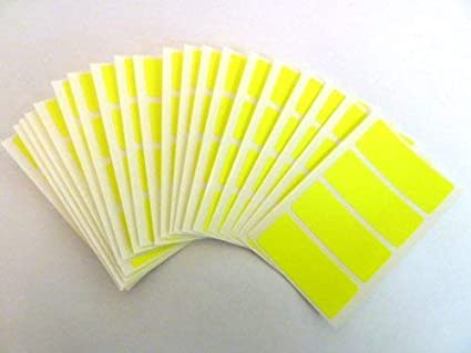 EasyTime UK /™ 80 Labels 50mm x 20mm Rectangle Yellow Colour Code Stickers Self-Adhesive Waterproof Durable Vinyl Sticky Coloured Labels.