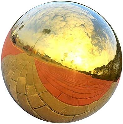 Tenlacum - Bola de Acero Inoxidable para decoración de Casas y Jardines, Esfera Brillante con Espejo Hueco (3 Unidades): Amazon.es: Jardín