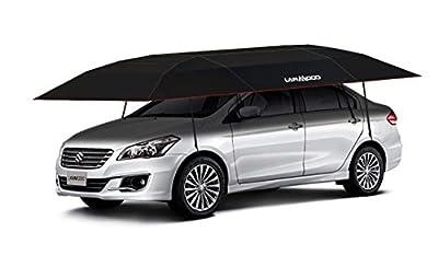 SHZOND Car Tent Umbrella 11.48 FT x 6.89 FT Waterproof Automatic Car Umbrella Windproof Level up to 42.6 ft/s Car Tent Carport Suitable for All Cars