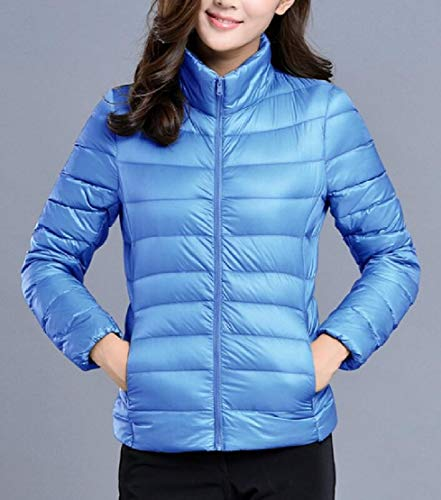 Jacket Quilted TTYLLMAO Jacket Down Stand Women's Winter Puffer Packable 15 Collar Parka 0STwq6