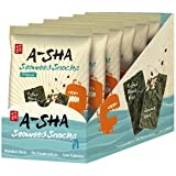 A-Sha Sesame Almond Seaweed Snacks, Original, 6 Count