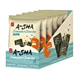A-Sha Sesame Almond Seaweed Snacks, Original, 6 Count