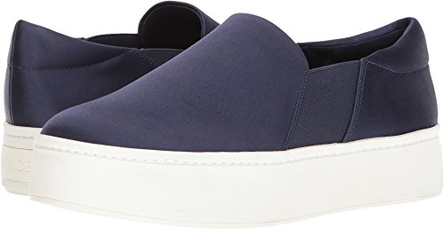Vince Women's Warren Platform Sneakers, Navy, 7.5 B(M) - Satin Platform Blue