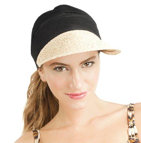 profile-by-gottex-womens-captiva-convertible-cap-visor-black-raffia