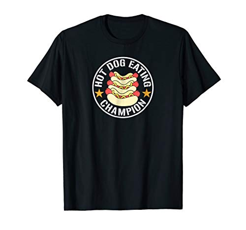 Hot Dog Eating Champion contest winner funny foodie shirt